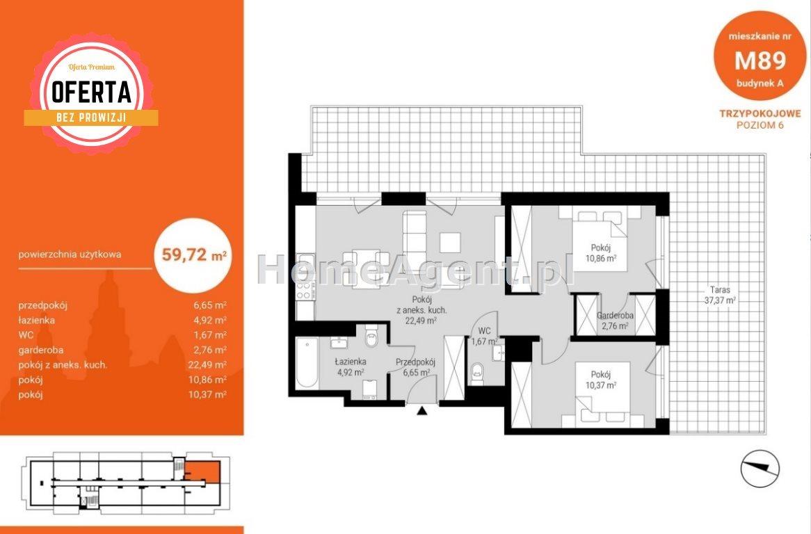 Mieszkanie trzypokojowe na sprzedaż Katowice, Wełnowiec, Bytkowska  60m2 Foto 7