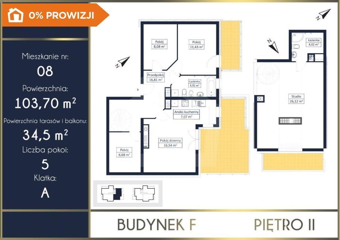 Mieszkanie trzypokojowe na sprzedaż Osielsko  104m2 Foto 4