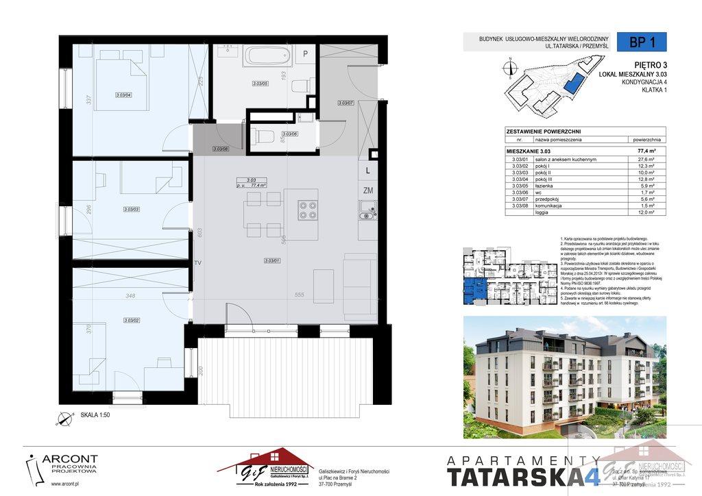 Mieszkanie czteropokojowe  na sprzedaż Przemyśl, Tatarska  77m2 Foto 8