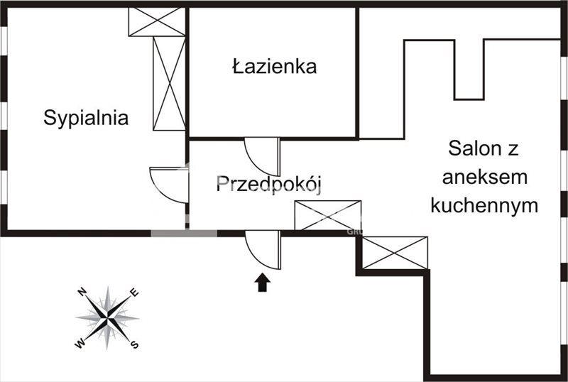 Mieszkanie dwupokojowe na wynajem Gdańsk, Śródmieście, Ogarna  44m2 Foto 2