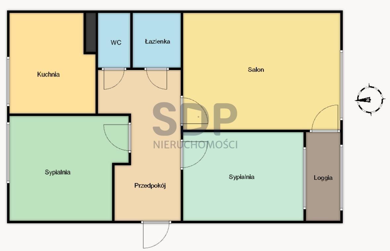 Mieszkanie trzypokojowe na sprzedaż Wrocław, Śródmieście, Biskupin, Olszewskiego  60m2 Foto 2