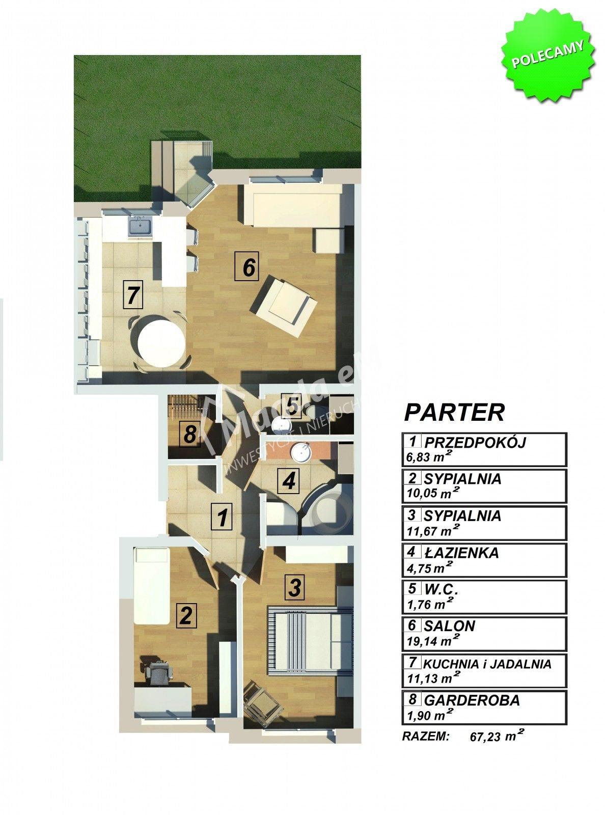 Mieszkanie trzypokojowe na sprzedaż Łomianki, NOWE MIESZKANIE  67m2 Foto 5
