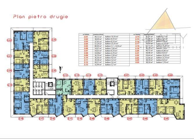 Mieszkanie trzypokojowe na sprzedaż Leszno, Sobieskiego  54m2 Foto 13