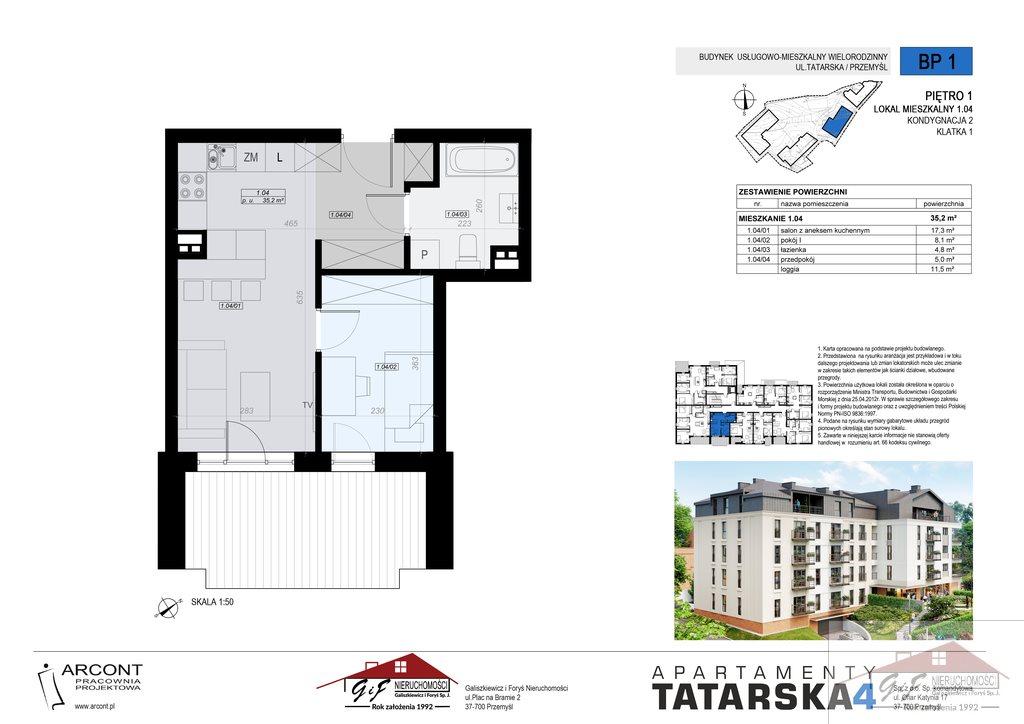 Mieszkanie dwupokojowe na sprzedaż Przemyśl, Tatarska  35m2 Foto 4