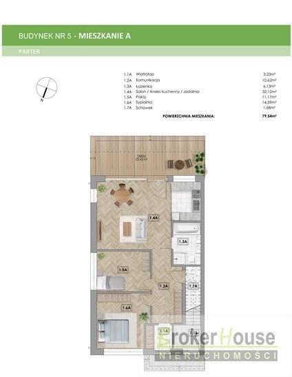 Mieszkanie trzypokojowe na sprzedaż Zawada  80m2 Foto 6