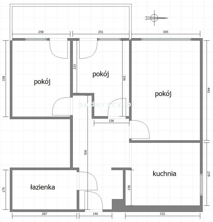 Mieszkanie trzypokojowe na sprzedaż Kraków, Prądnik Biały, Prądnik Biały, Adama Marczyńskiego  55m2 Foto 3