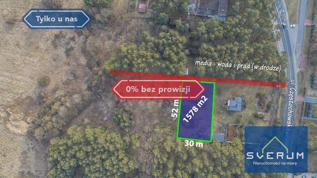 Działka leśna na sprzedaż Ważne Młyny, Częstochowska  1578m2 Foto 1