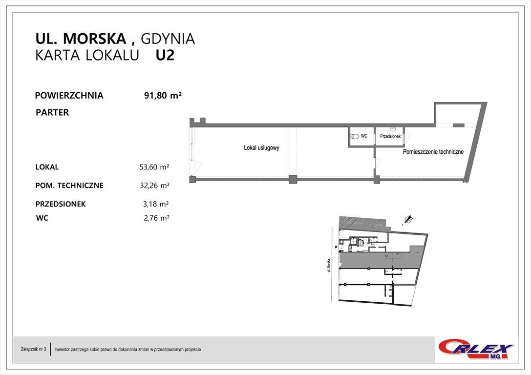 Lokal użytkowy na sprzedaż Gdynia, Działki Leśne, Morska 15  92m2 Foto 2