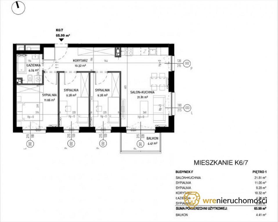 Mieszkanie czteropokojowe  na sprzedaż Wrocław, Zakrzów, Zatorska  66m2 Foto 4