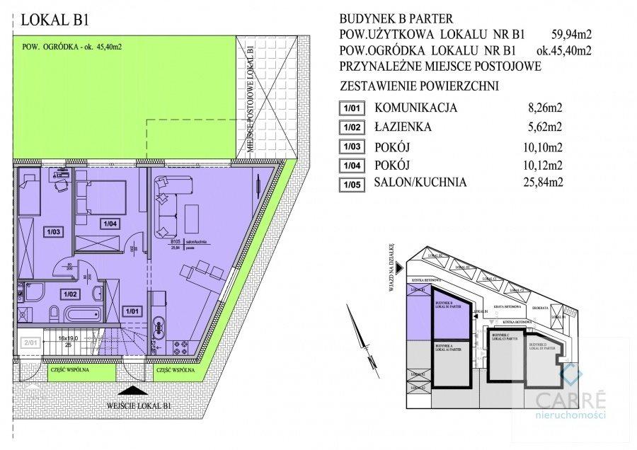 Mieszkanie trzypokojowe na sprzedaż Mierzyn  60m2 Foto 4