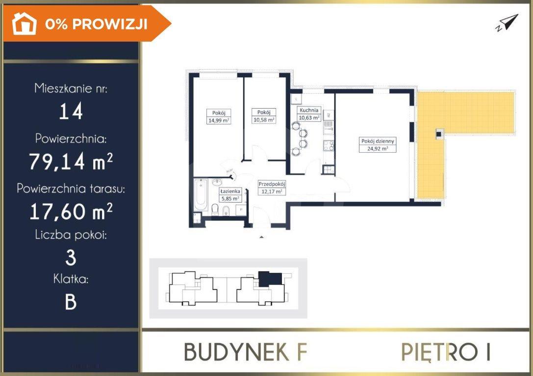 Mieszkanie trzypokojowe na sprzedaż Osielsko  79m2 Foto 4