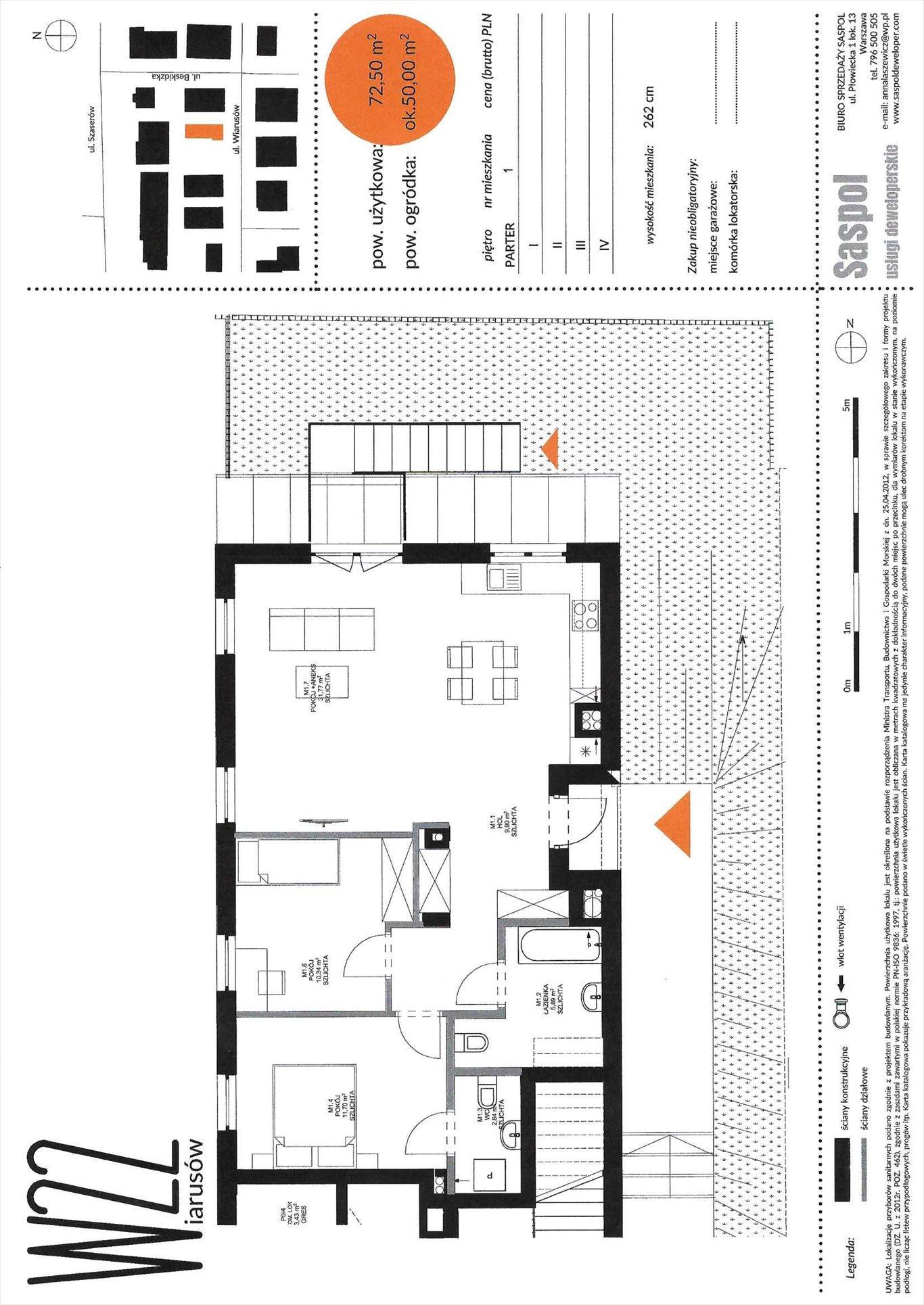 Mieszkanie czteropokojowe  na sprzedaż Warszawa, Praga Południe, Wiarusów 22  72m2 Foto 3