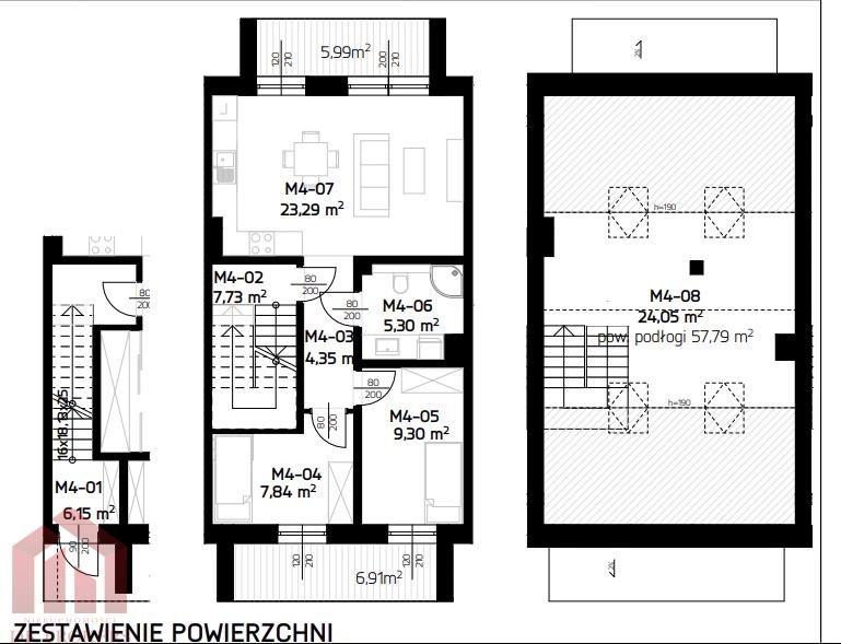 Mieszkanie czteropokojowe  na sprzedaż Rzeszów, Budziwój, Aroniowa  88m2 Foto 2