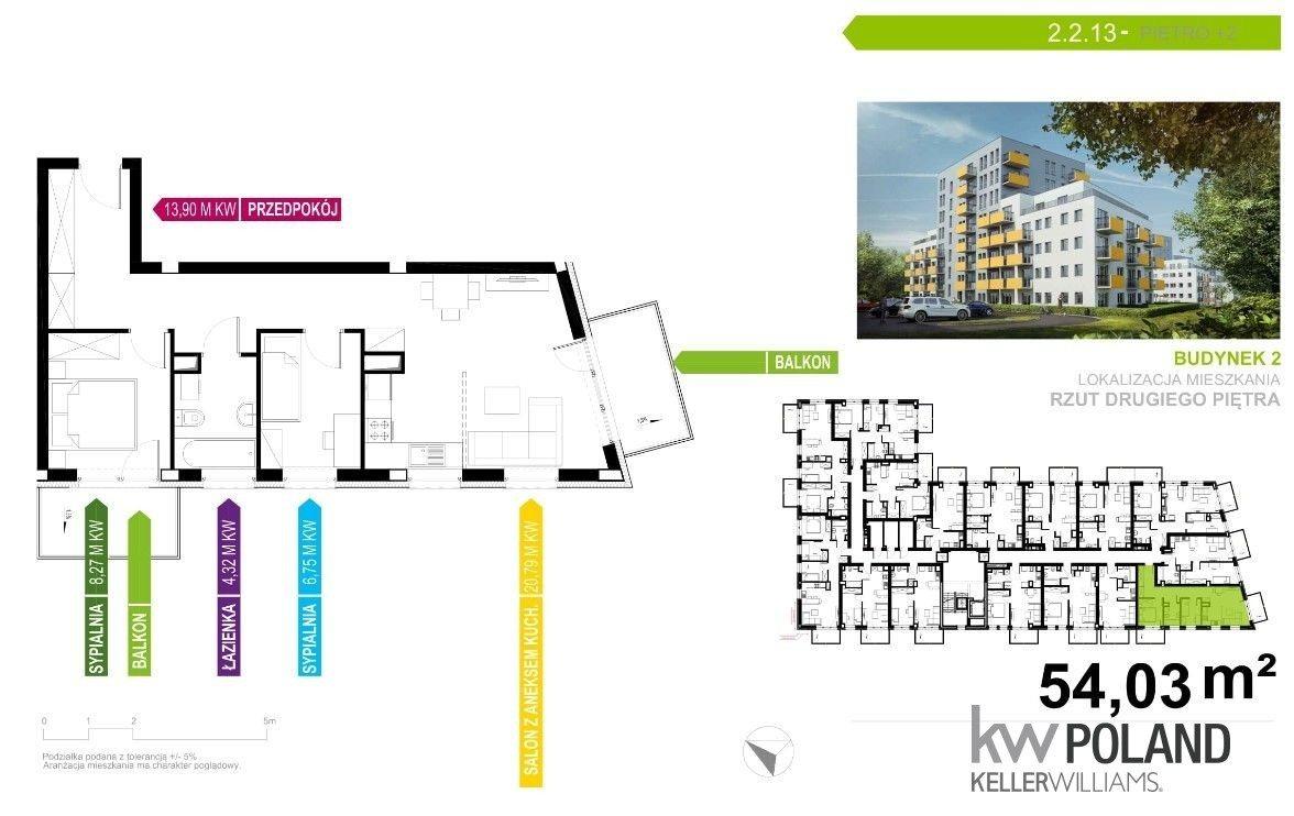 Mieszkanie trzypokojowe na sprzedaż Gliwice, Kozielska  54m2 Foto 2