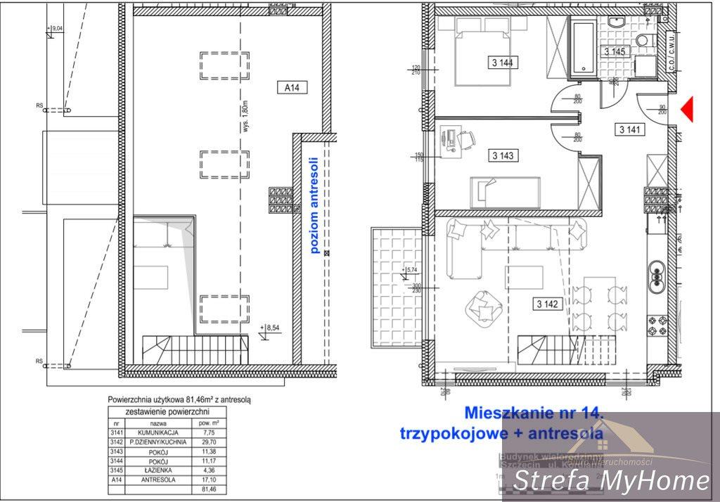 Mieszkanie czteropokojowe  na sprzedaż Szczecin, Bukowo, Kordiana  81m2 Foto 6