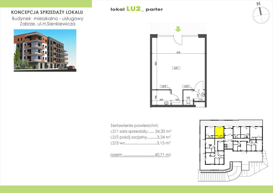 Lokal użytkowy na sprzedaż Zabrze, Henryka Sienkiewicza 15  40m2 Foto 1