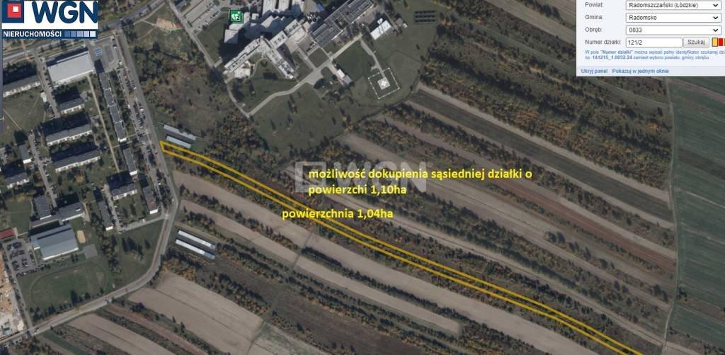 Działka budowlana na sprzedaż Radomsko, 1212  10425m2 Foto 2