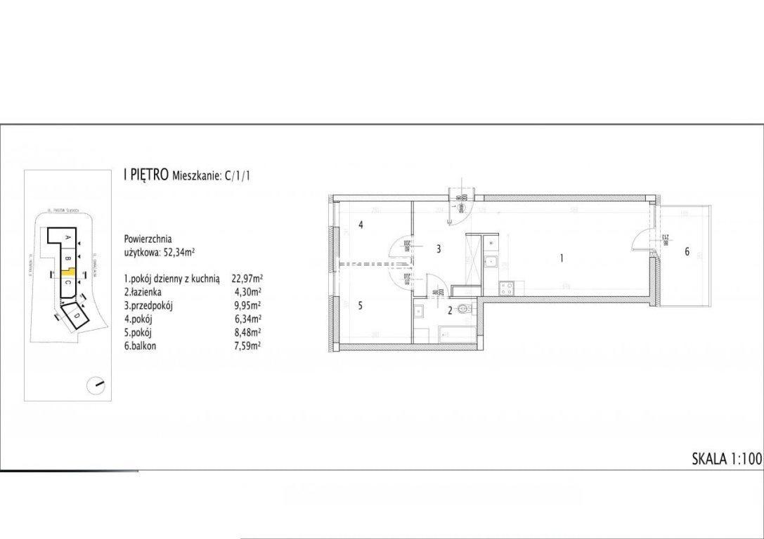 Mieszkanie trzypokojowe na sprzedaż Siechnice  52m2 Foto 5