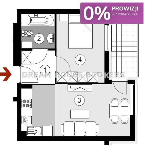 Mieszkanie dwupokojowe na sprzedaż Rzeszów, Staromieście  38m2 Foto 8