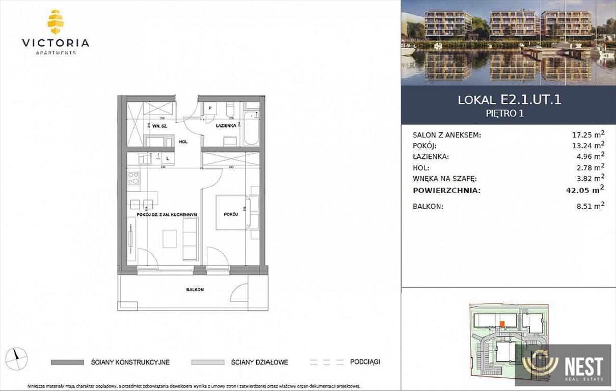 Mieszkanie dwupokojowe na sprzedaż Szczecin, Prawobrzeże, Przestrzenna  42m2 Foto 5