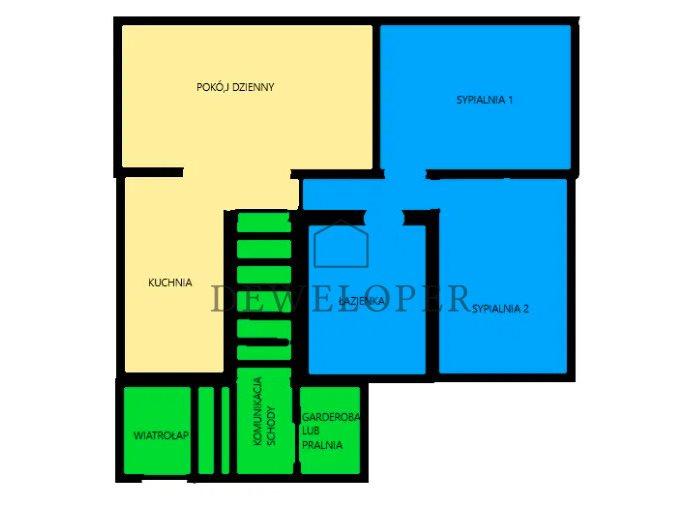 Mieszkanie trzypokojowe na sprzedaż Mikołów, Kamionka, Katowicka  53m2 Foto 6