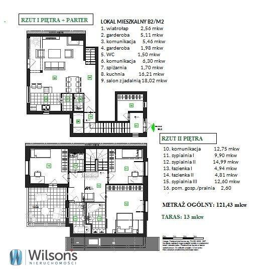 Mieszkanie czteropokojowe  na sprzedaż Łomianki  121m2 Foto 2