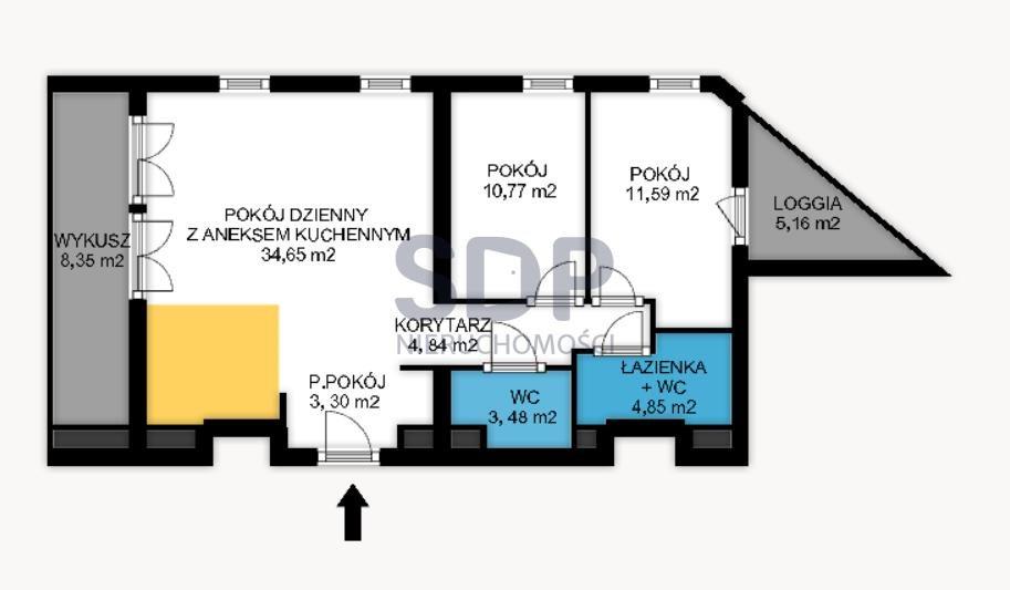 Mieszkanie trzypokojowe na sprzedaż Wrocław, Stare Miasto, Stare Miasto, ok. Długiej  73m2 Foto 1