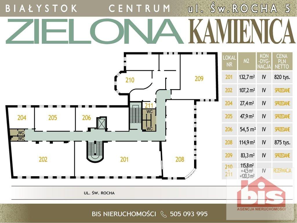 Lokal użytkowy na sprzedaż Białystok, Centrum, Św. Rocha  133m2 Foto 2