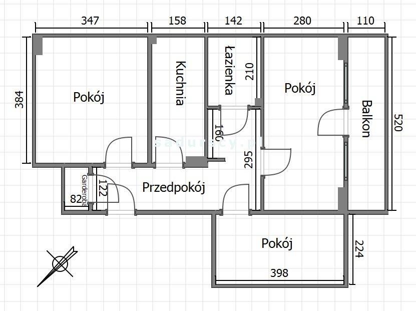 Mieszkanie trzypokojowe na sprzedaż Kraków, Bronowice, Bronowice Małe, Krakusów  55m2 Foto 3