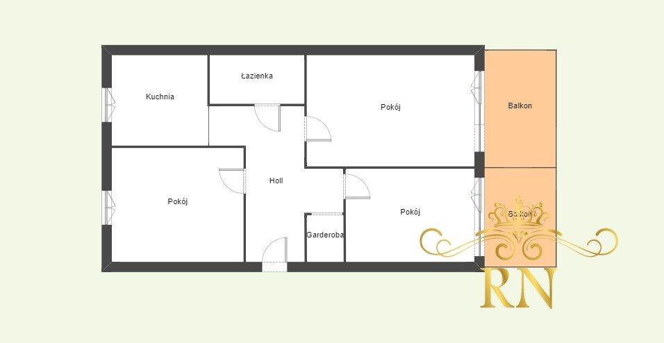 Mieszkanie trzypokojowe na sprzedaż Turka  64m2 Foto 11