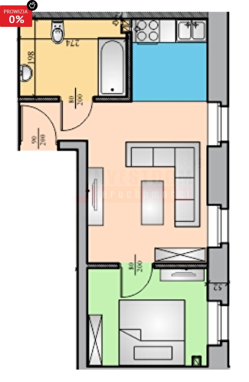 Mieszkanie dwupokojowe na sprzedaż Brzeg  32m2 Foto 5