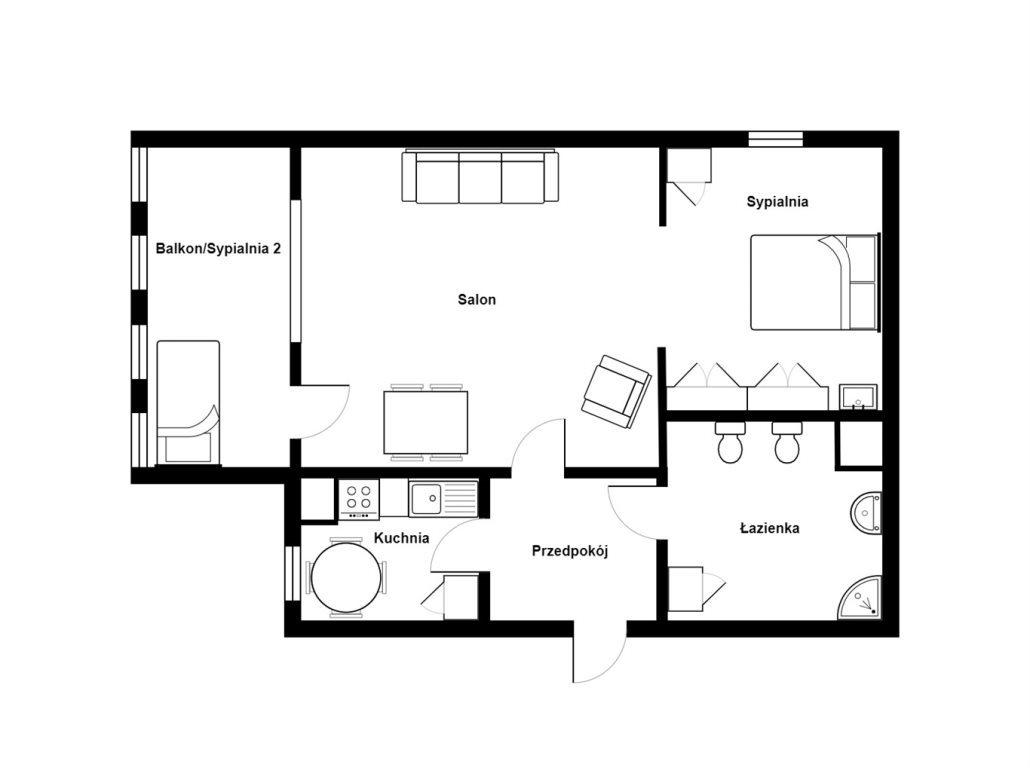 Mieszkanie dwupokojowe na sprzedaż Warszawa, Praga-Południe, Gocław, Emila Fieldorfa  43m2 Foto 1