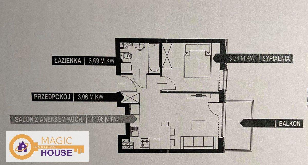 Mieszkanie dwupokojowe na sprzedaż Gdynia, Obłuże, inż. J. Śmidowicza  33m2 Foto 9