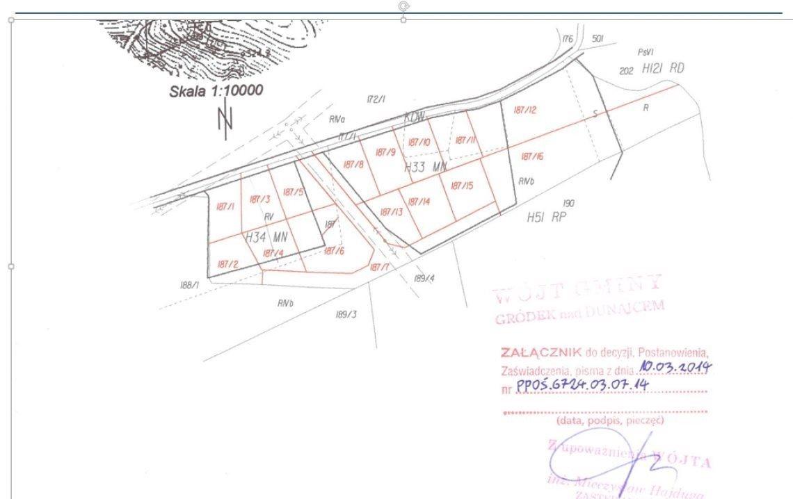 Działka budowlana na sprzedaż Gródek nad Dunajcem  600m2 Foto 6