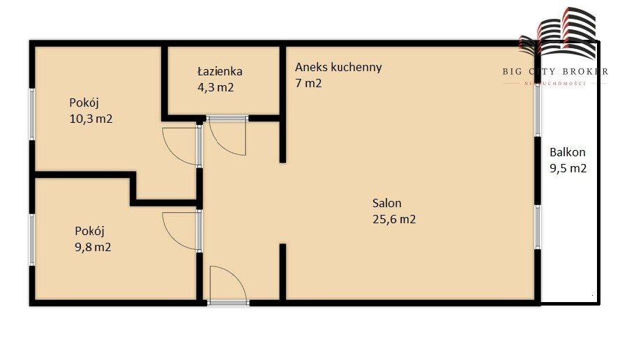 Mieszkanie trzypokojowe na sprzedaż Lublin, Węglinek, Gęsia  64m2 Foto 8