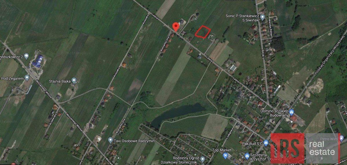 Działka budowlana pod dzierżawę Radzymin, Leśna  1000m2 Foto 5
