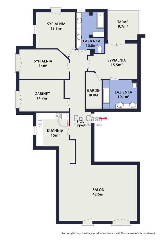 Mieszkanie na sprzedaż Warszawa, Mokotów, Zbyszka Cybulskiego  161m2 Foto 11