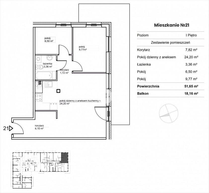 Mieszkanie trzypokojowe na sprzedaż Bydgoszcz, Okole, Garbary  52m2 Foto 3