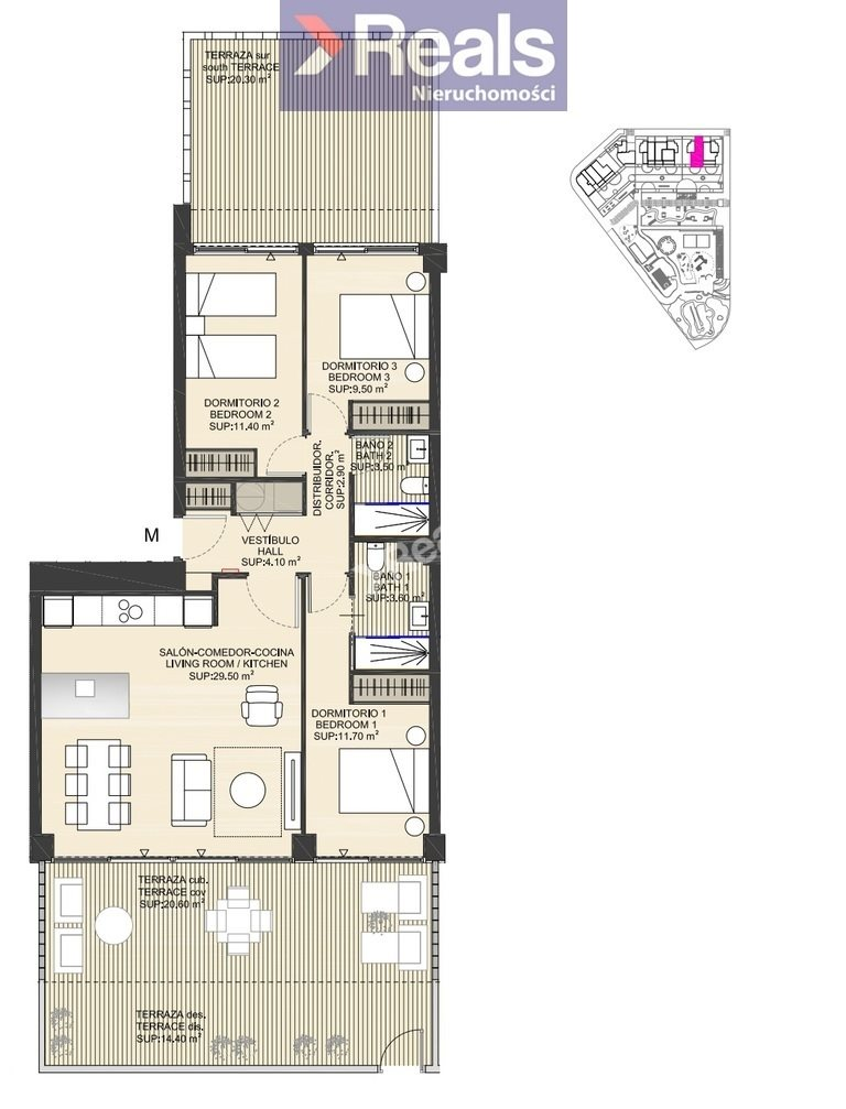 Mieszkanie czteropokojowe  na sprzedaż Hiszpania, Costa Blanca, Costa Blanca, La Manga  126m2 Foto 1