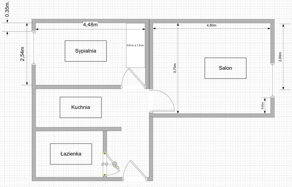 Mieszkanie dwupokojowe na sprzedaż Poznań, Centrum, Stare Miasto, Stary Rynek, Śródmieście, Garbary, Garbary  44m2 Foto 12
