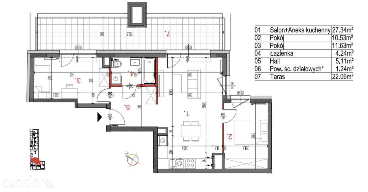 Mieszkanie trzypokojowe na sprzedaż Warszawa, Białołęka, Tarchomin, warszawa  60m2 Foto 2