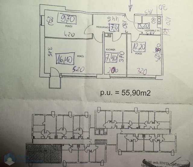 Mieszkanie trzypokojowe na sprzedaż Warszawa, Bielany, Słodowiec, Jarzębskiego Adama  56m2 Foto 8