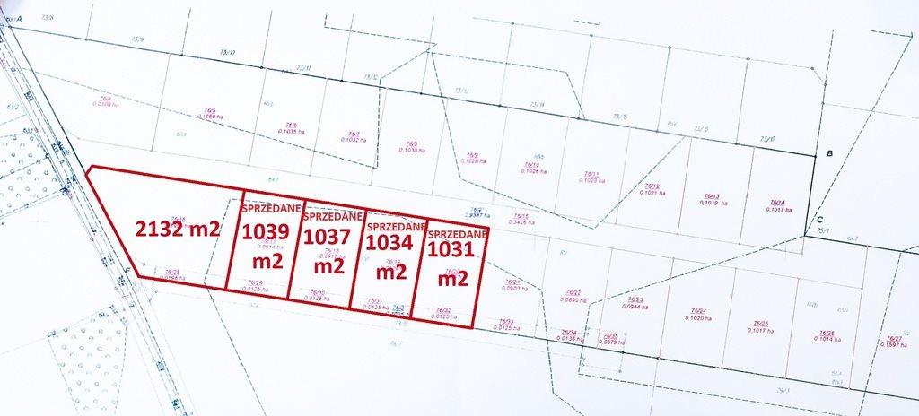 Działka budowlana na sprzedaż Skrybicze  2132m2 Foto 2