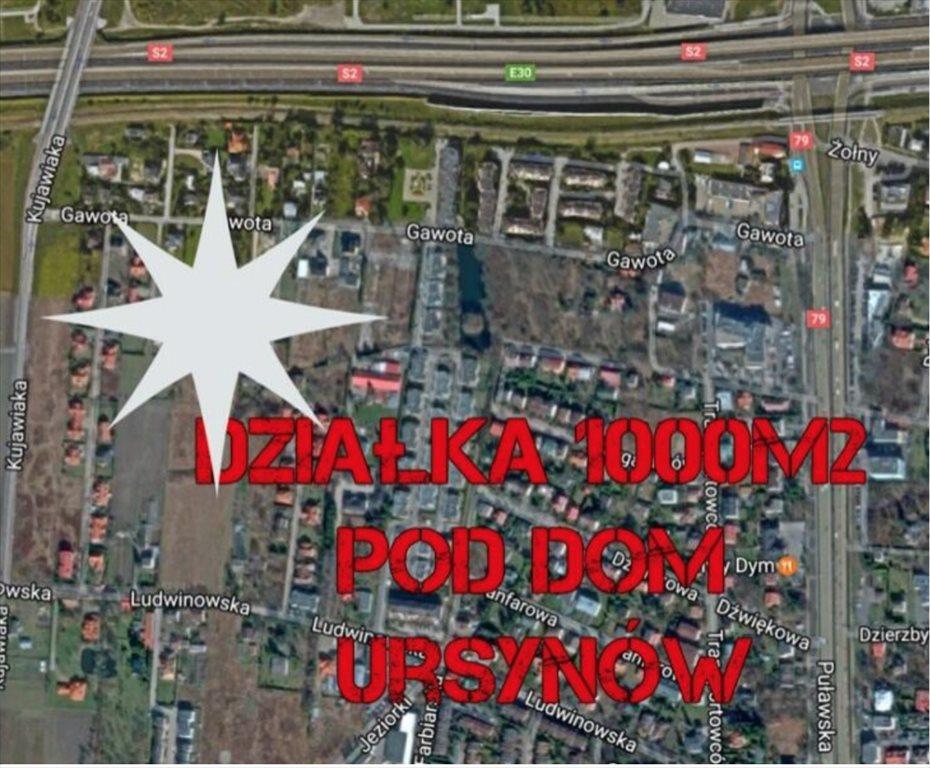 Działka budowlana na sprzedaż Warszawa, Ursynów, Gawota  1009m2 Foto 2
