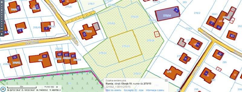 Działka budowlana na sprzedaż Rumia, Żwirowa  749m2 Foto 2