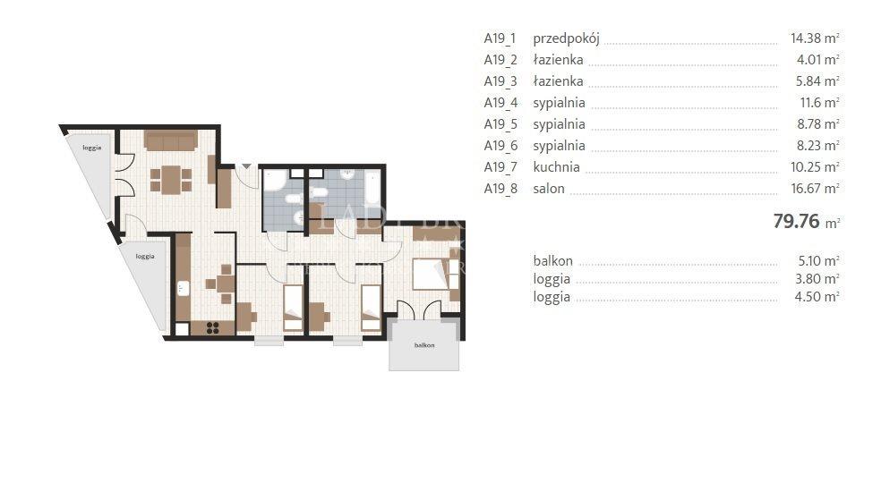 Mieszkanie czteropokojowe  na sprzedaż Rzeszów, Baranówka, Prymasa 1000-lecia  80m2 Foto 6