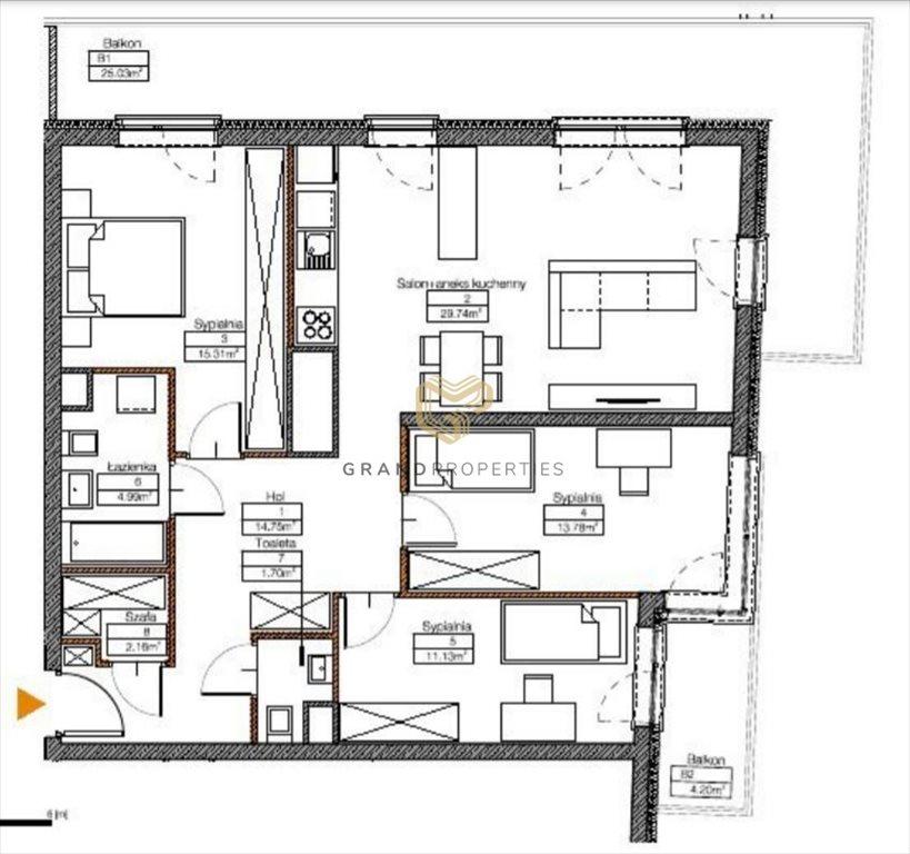 Mieszkanie czteropokojowe  na sprzedaż Warszawa, Mokotów Sadyba  96m2 Foto 4