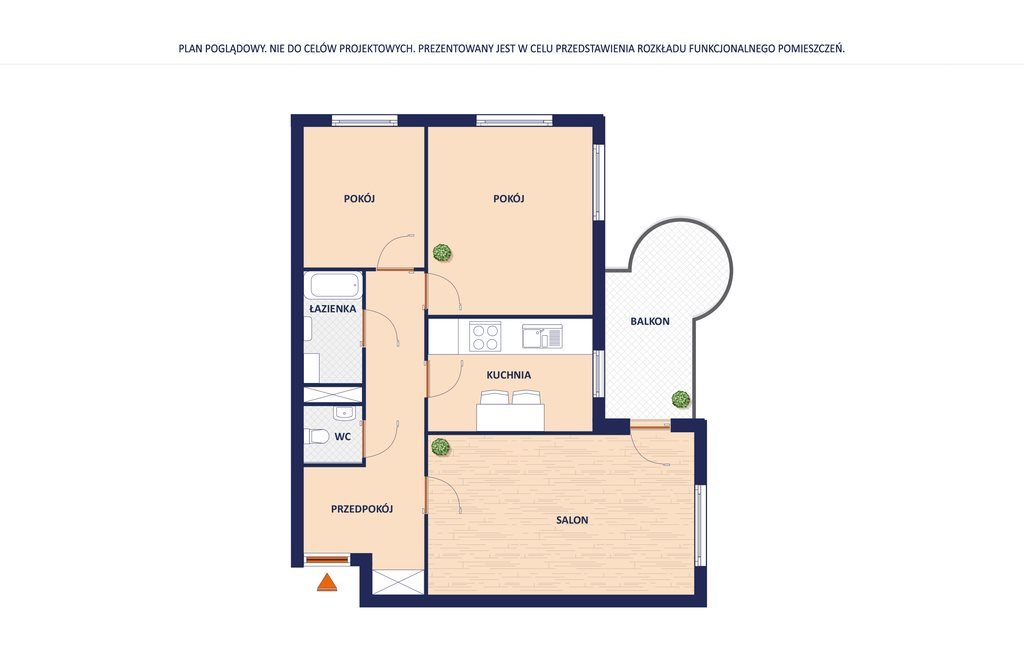 Mieszkanie trzypokojowe na sprzedaż Warszawa, Białołęka, Odkryta  63m2 Foto 11