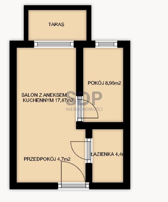 Mieszkanie dwupokojowe na sprzedaż Wrocław, Krzyki, Jagodno, Buforowa  37m2 Foto 3