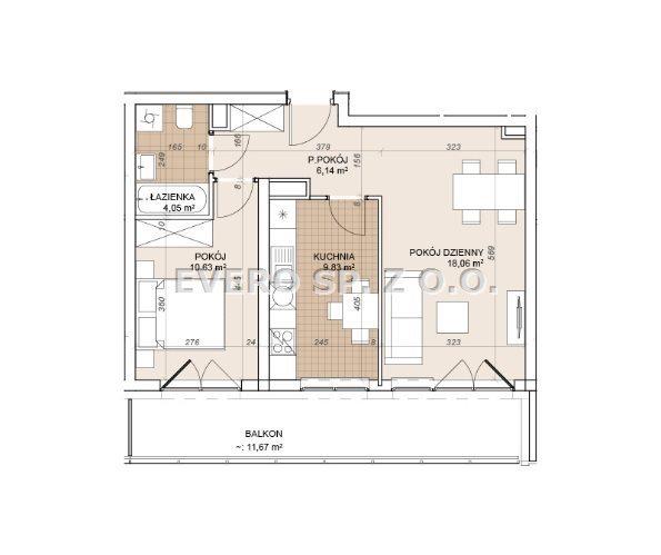Mieszkanie dwupokojowe na sprzedaż Wrocław, Stare Miasto, Stare Miasto - OPCJA 2/3 POKOJE - BEZ PROWIZJI  49m2 Foto 3